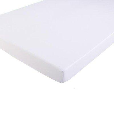 Sábana bajera lisa 90x190 cm de algodón blanca de Soleil d'ocre