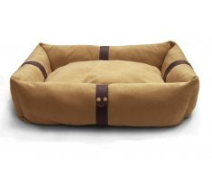 "31"" Medium Luxury Super Soft Suede Two Sided Snuggle Bed. Mellow Tan. Dogs Or Cats. Order Now & Receive Tomorrow by Splendid Pets"