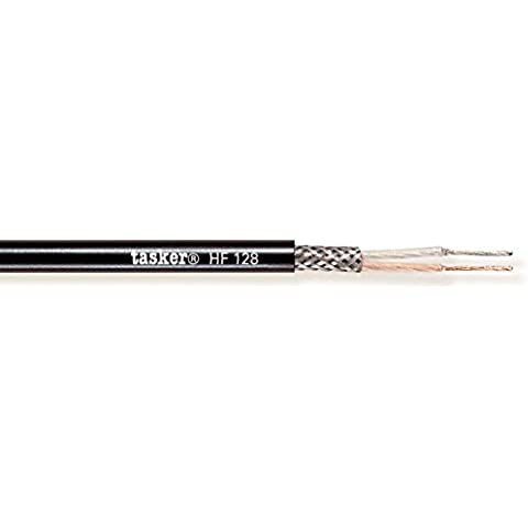 Tasker HF 128 Cavo microfonico Halogen Free, 2x0,35 mm² 100 (80 % Di Rame Treccia)