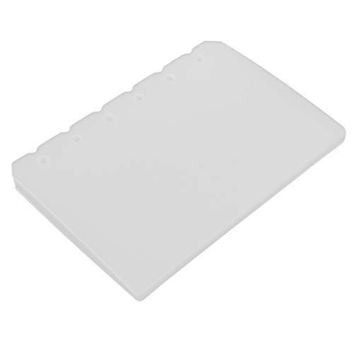 Fenteer 10pcs Tabbed Paper Planer Teiler Index Seite Registerkarte Notebook Spiralbuch - A7, 127 x 87 x 70 mm - Teiler Registerkarte