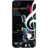 Nice Dicton–When Words Fail, DE LA Musique Parle.–iPhone 5Coque en Plastique Blanc–Compatible avec l'iPhone 5/5S (Non 5C)...
