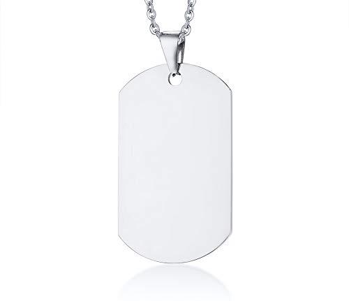 Datum Benutzerdefinierte Gravur High polnischen Dog Tags Anhänger Halskette für Männer Frauen Haustiere Personalisierte Silber ()