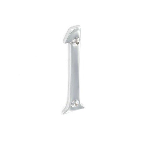 Securit Plaque de maison Chiffre 1 Plaqué chrome Plat 75 mm pour Porte Maison, chrome, 1 - Pack