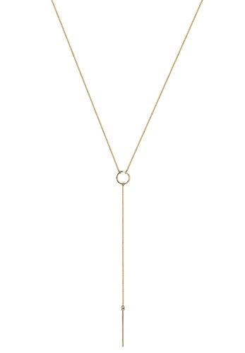 Elli Damen Schmuck Halskette Y-Kette Basic Geo Trend Minimal Filigran Blogger Silber 925 Länge 60 cm