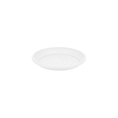 Terra soucoupe en plastique, blanche couleur, diametre: 9 cm