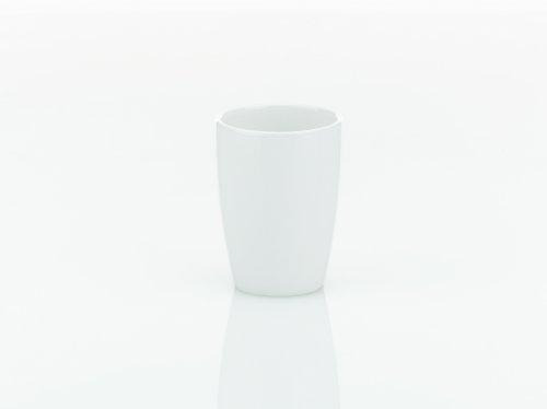 Kela 18588, Becher, Keramik, Ø 8 cm H 10,5 cm, Natura, Weiß