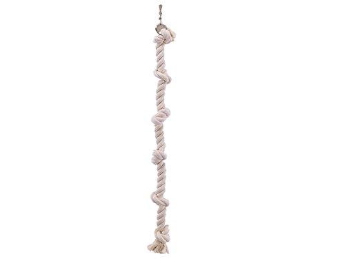 Nobby Cage Toy, Kletterseil Baumwolle weiß L: 67 cm; Ø 25 mm; 4 Knoten
