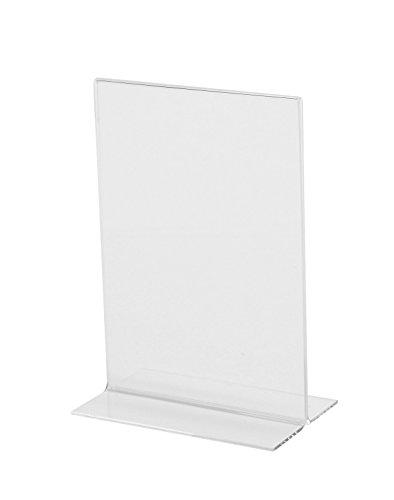 Sigel TA226 Tischaufsteller gerade, für A6, glasklar Acryl - weitere Größen