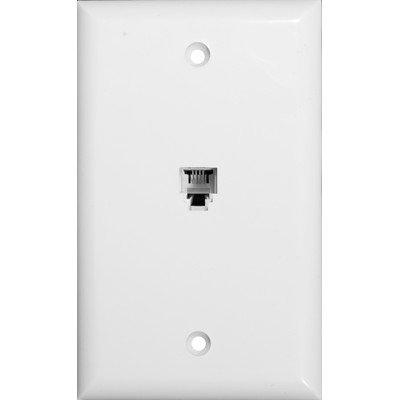 Morris 80011Unique RJ114conducteur prise de téléphone plaque murale, Blanc