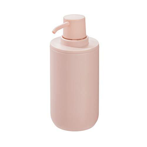 Rosa Lotion Seife (iDesign Seifenspender, runder Lotionspender aus Kunststoff für Bad und Küche, nachfüllbarer Flüssigseifenspender für 355 ml Seife oder Lotion, rosa)