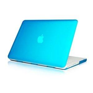 Topideal - Carcasa rígida de goma translúcida para MacBook blanco de 13,3' A1342, color azul