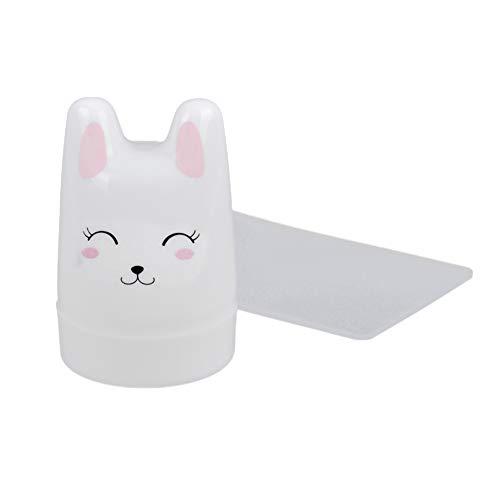 AxssjS Mode-Karikatur-Kaninchen-weicher Nagel-Kunst-Stampfer, der Schablonen-Maniküre-Werkzeug mit Schaber stempelt (Für Nagel-kunst Halloween Einfach)