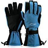 UPmagic Waterproof Men Ski Gloves, Windproof Warmest Thinsulate Cold Weather Glove for Skiing