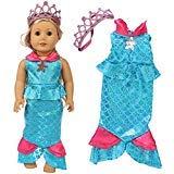 ZITA ELEMENT Puppenkleidung Kleider Princess Mermaid Puppenzubehör Set 18 Zoll Mädchen...