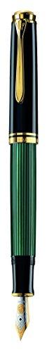 Preisvergleich Produktbild Pelikan Souverän M600 Kolbenfüllfederhalter, Schwarz / Grün