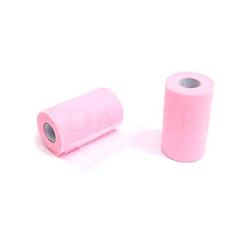 ZADAWERK® Tüll - 15 cm x 45 m - Rosa - 1 Rolle (Halloween-kostüm Pink Flamingo)