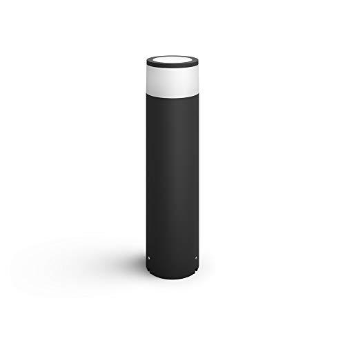 Philips Hue White & Color Ambiance Calla LED-Sockelleuchte, schwarz - Niedervolt Starterset | Standlampe für den Aussenbereich, dimmbar, bis zu 16 Millionen Farben, steuerbar via App Smartphone Tablet