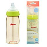 Pigeon Peristaltic PLUS PPSU Nursing Bottle BPA Free 240 ml with nipple size M by Pigeon