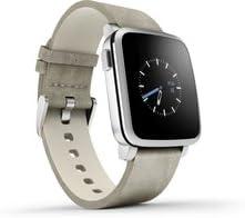 Pebble Time Steel Smartwatch - Silver