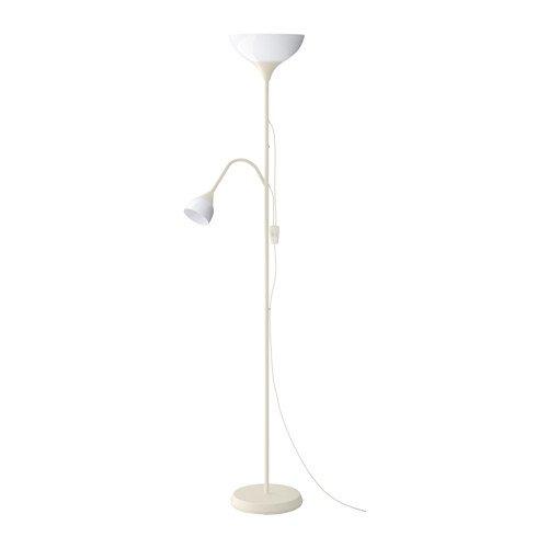 Ikea NOT Piantana con lampada da lettura, in plastica, colore: Nero, altezza. 176 cm