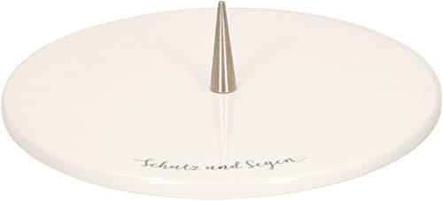 Butzon & Bercker 2-640097 Leuchter Schutz und Segen aus Porzellan - Messing-2 Kerzen