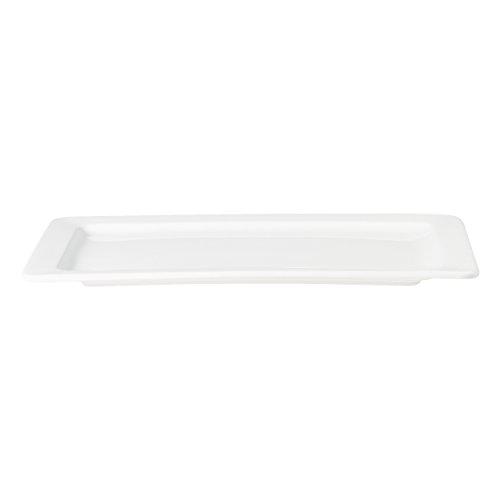 ASA 4736147 Grande plaque rectangulaire Céramique, Blanc brillant, 45 x 28 x 10 cm