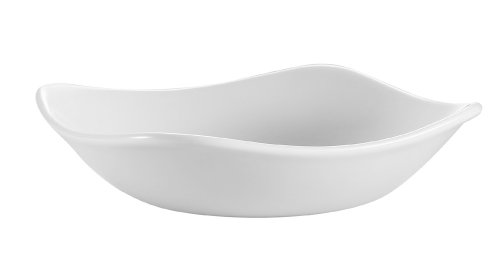 CAC China Coupe Porzellanschale, quadratisch, Weiß 36er-Schachtel 7-Inch, 16-Ounce Super white; bright white China Coupe Soup Bowl