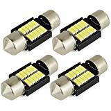 Safego 4 x 31mm C5W LED Canbus Bianca Lampadine Auto per Targa/interno 10-4014SMD Canbus