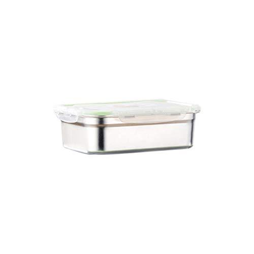 TLfyajJ 3/4/7/10 / 12L Auslaufsicherer Edelstahl Bento Box Rechteck Lunch Container, plastikfrei,auslaufsicher | Geeignet Für Erwachsene Und Kinder | Spülmaschinen- Und Mikrowellenfest Silver 3L (Planetbox-lunch-box)