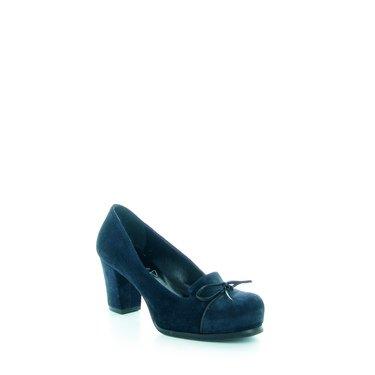 Decollete Donna In Camoscio Emanuela Passeri, Colore: Blu, Taglia: 40