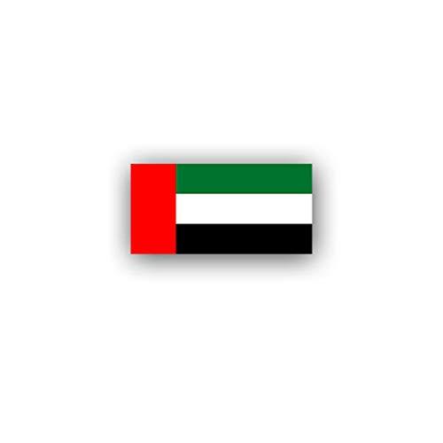 Aufkleber/Sticker Vereinigte Arabische Emirate Flagge Abu Dhabi 7x3,5cm A3044