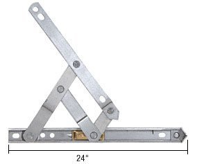 24 4-Bar Heavy Duty Stainless Steel Friction Hinge - Package by C.R. Laurence