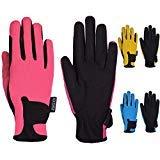 Mashfa Kinder Reiten Handschuhe Kinder REIT Handschuhe Boys & Girls Pony-Reithandschuhe Jugend-Reitaußen Mitts Rosa Alter 8-10 Jahre