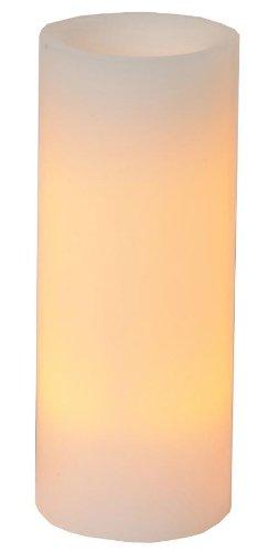 Best Season 067-22 - Vela de cera con luz led (parpadeante, 15 x 10 cm, temporizador, funciona con pilas), color ámbar
