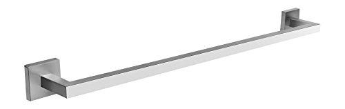 Preisvergleich Produktbild Ambrosya® / Exklusiver Handtuchhalter aus Edelstahl / Bad Badezimmer Halter Halterung Handtuch Handtuchhaken Handtuchstange Handtuchständer Stange Ständer Wand WC (Edelstahl (Gebürstet))