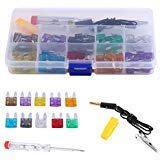 Kit de fusibles para mini cuchillas de coche, 2 A, 3 A, 5 A, 7,5 A, 10 A, 15 A, 20 A, 25 A, 30 A, 35 A, fusibles de repuesto estándar surtidos con láp