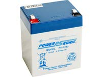 Bleiakku - Akku Powersonic PS 1242 - Powersonic PS1242 - Powersonic PS-1242  - 12V 4,5Ah - Rechargeable Sealed Lead Acid (SLA) Battery - AGM / Blei Vlies Sealed Lead Acid-agm