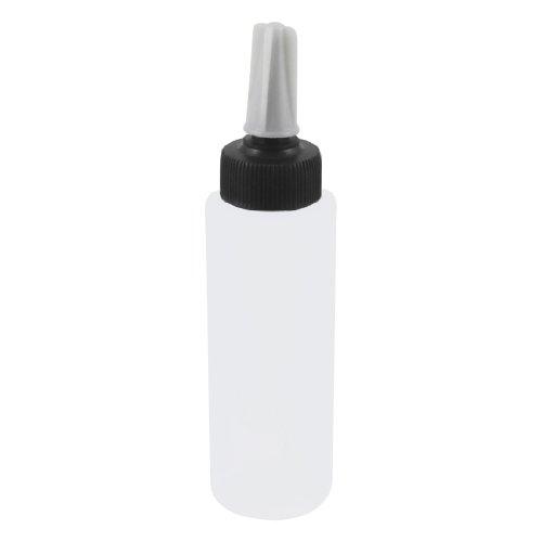 sourcingmap® 150ml 147,9 Ml Forme Cylindre Transparent Plastique Blanc Titulaire De L'eau Pissette