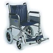 Patterson Medical Heavy Duty - Silla de transporte para desplazamientos con respaldo plegable