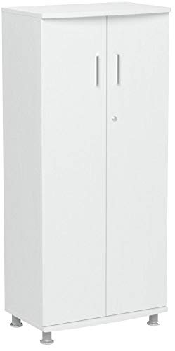Piranha Midischrank mit 3 Ablagen passend zu unserem Angebot von Büromöbeln in weiß PC6s