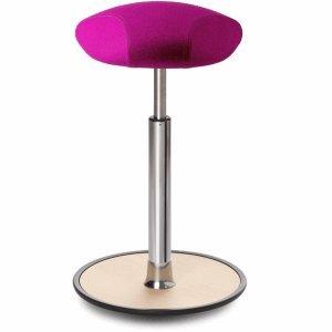 Ongo Sitz- und Stehhocker Free 58-82cm Triangle-Sitz Kvadrat divina pink/Eiche/chrom