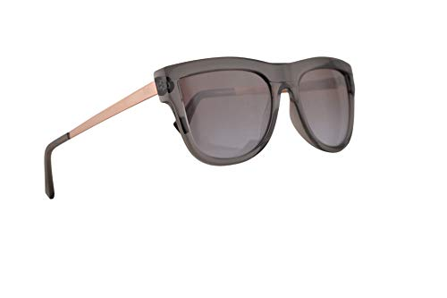Michael Kors MK2073 St. Kitts Sunglasses Transparent Grey w/Brown Purple Flash Lens 56mm 329994 MK 2073