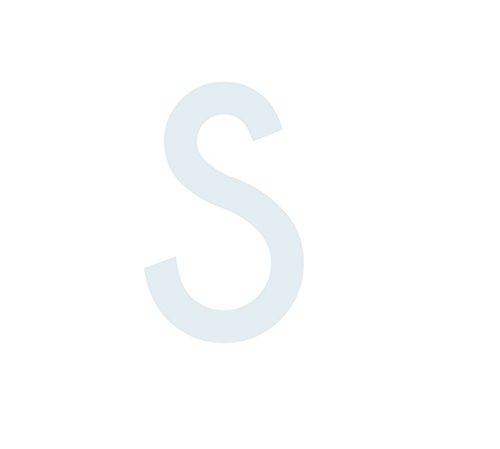 """Buchstaben Aufkleber, wetterfest, einzelner Buchstabe \""""S\"""", weiß, 10 cm (100mm) großgeschrieben"""