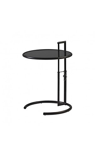 CAMINO A CASA - Table d'appoint design plateau verre teint noir Monocle