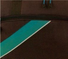 """Sporttasche 1524 """" Young Line """" mit Handyfach in 3 Farben ca 55,0 x 29,0 x 26,0 cm braun/türkis"""