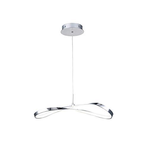 Suspension design LED ruban infini - Acht KOSILUM - IP20 - Classe énergétique : A - 220/230V 50/60Hz - - 1080 lm - Argenté / Chromé - Descriptif technique du luminaire :Culot de l'ampoule :LED intégrée   Nombre d'ampoules : LED intégrée   Indice de protection : IP20   Puissance :   Tension : 220/230V 50/60Hz   Poids du luminaire : 0,80 kg   Poids du colis : 1,37 kg - KOSILUM