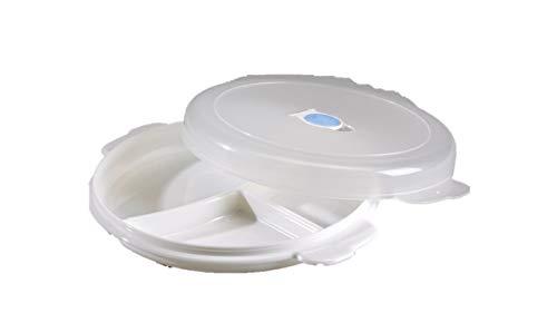Conny Clever Mikrowellen-Teller Menüteller mit Unterteilungen - Plastik