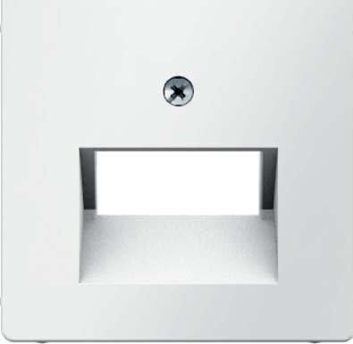 Preisvergleich Produktbild Hager Q.1Zentralplatte Mitteilung für 2RJ weiß Polar