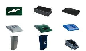 rubbermaid-commercial-products-fg267360blue-couvercle-basculant-slim-jim-bleu
