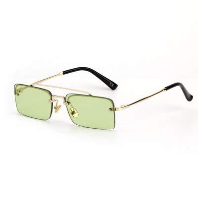 Linshenyoulu New Square Frameless Damen Sonnenbrillen Sonnenbrillen Europa und die Vereinigten Staaten Wind Strange New Sonnenbrillen